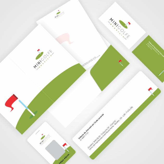 Logomarca + Papelaria para Mini Golfe