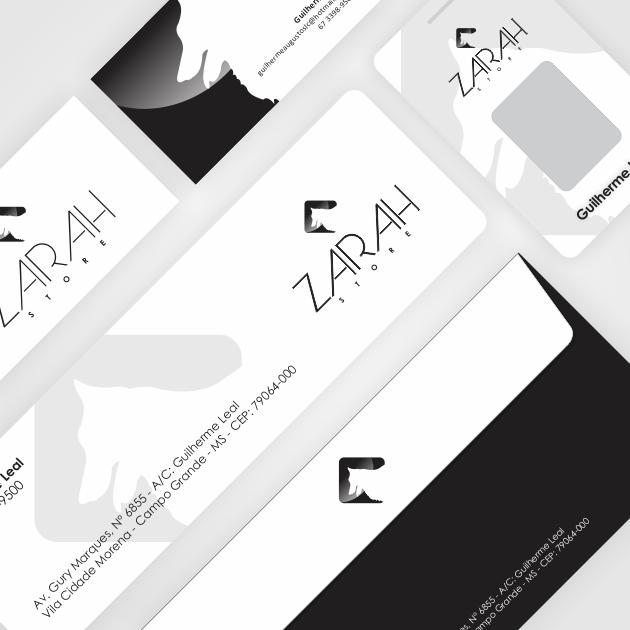 Logomarca + Papelaria + Logo FT + Logo FTR + Timbrado Word para Zarah Store