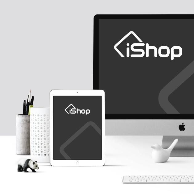 Desenvolvimento de Logotio / Logomarca + Papelaria / Identidade Visual para iShop