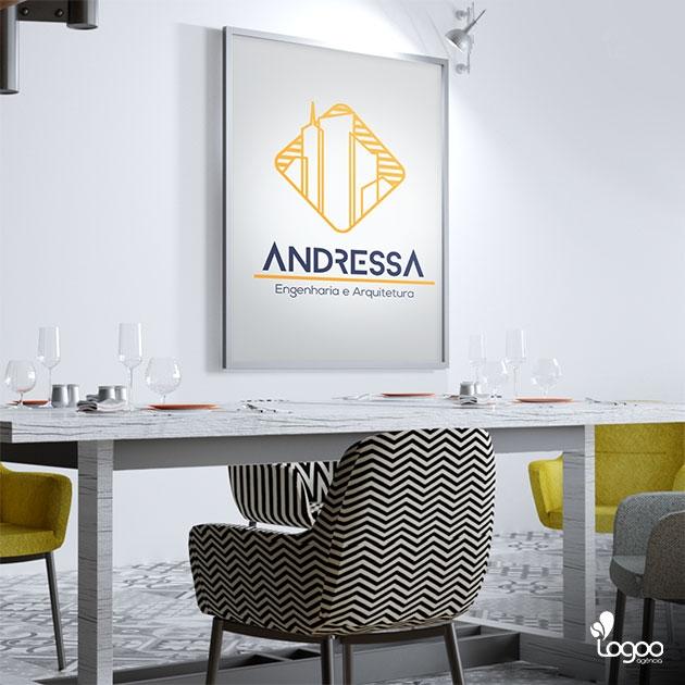 Desenvolvimento de Logotipo / Logomarca / Papelaria / Identidade Visual para ANDRESSA engenharia e arquitetura