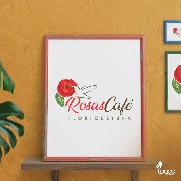 Desenvolvimento de Logotipo / Logomarca / Papelaria / Identidade Visual para ROSAS CAFÉ