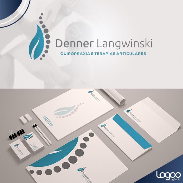 Desenvolvimento de Logotio / Logomarca + Papelaria / Identidade Visual para DENNER LANGWINSKI - TERAPIAS CORPORAIS