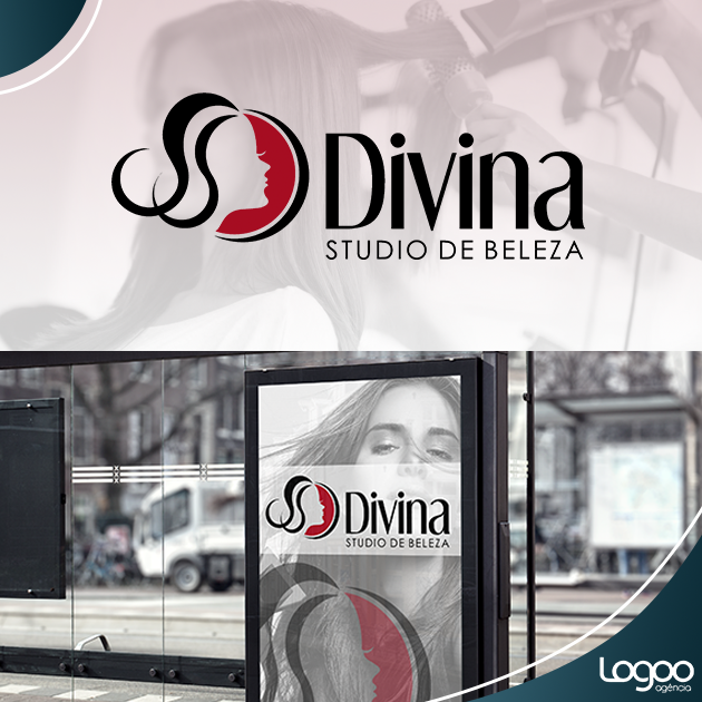 Desenvolvimento de Logotipo / Logomarca / Papelaria / Identidade Visual para Divina studio de beleza