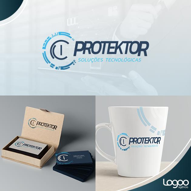 Desenvolvimento de Logotipo / Logomarca / Papelaria / Identidade Visual para Protektor Soluções Tecnológicas ltda