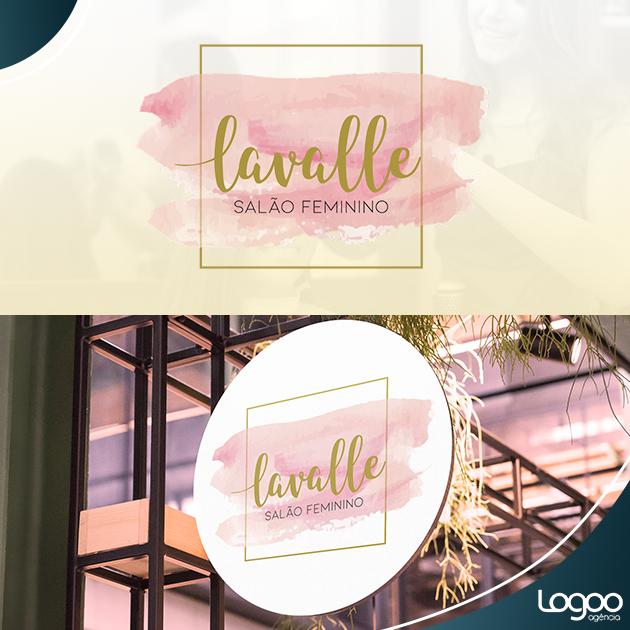 Desenvolvimento de Logotipo / Logomarca / Papelaria / Identidade Visual para Lavalle Salão Feminino