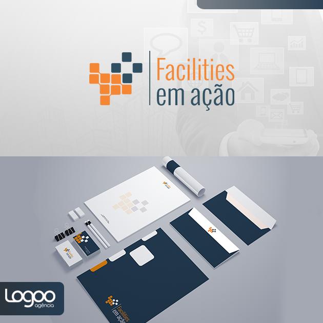 Desenvolvimento de Logotipo / Logomarca / Papelaria / Identidade Visual para Facilities em Ação