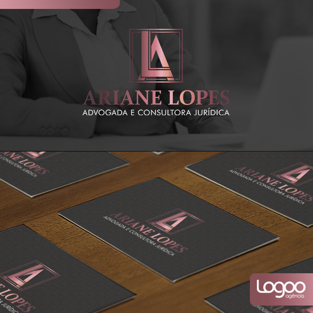 Logotipo - Papelaria -  Multimídia para Ariane Lopes Adocacia