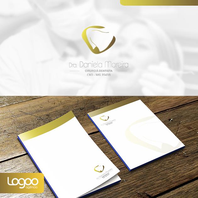 Logotipo - Papelaria -  Multimídia para Consultório Odontológico Daniela Moreira