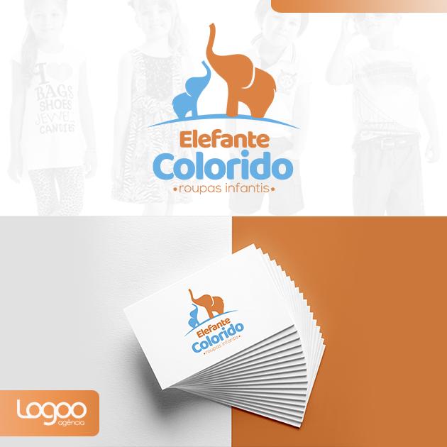 Logotipo - Papelaria -  Multimídia para ELEFANTE COLORIDO