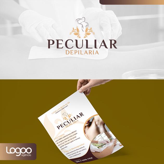 Logotipo - Papelaria -  Multimídia para Peculiar Depilaria